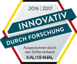 [Translate to Englisch:] Siegel Innovativ durch Forschung durch den Stifterverband
